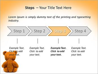 Brown Teddy Bear PowerPoint Template - Slide 4