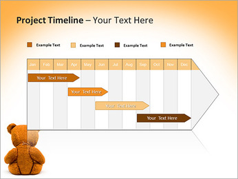 Brown Teddy Bear PowerPoint Template - Slide 5