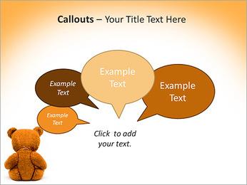 Brown Teddy Bear PowerPoint Template - Slide 53