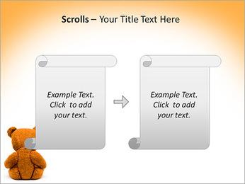 Brown Teddy Bear PowerPoint Template - Slide 54