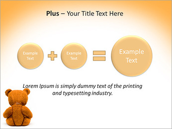 Brown Teddy Bear PowerPoint Templates - Slide 55