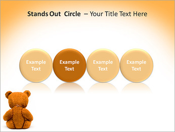 Brown Teddy Bear PowerPoint Templates - Slide 56