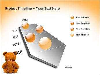 Brown Teddy Bear PowerPoint Template - Slide 6