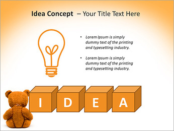 Brown Teddy Bear PowerPoint Template - Slide 60
