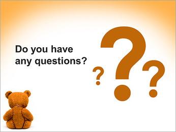 Brown Teddy Bear PowerPoint Templates - Slide 75