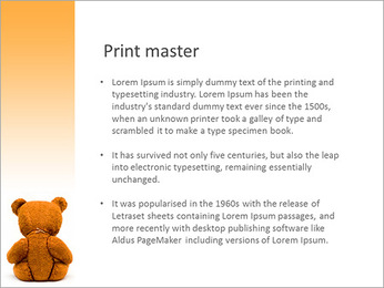 Brown Teddy Bear PowerPoint Templates - Slide 76