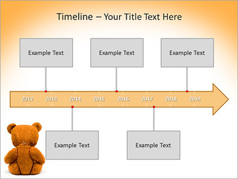 Brown Teddy Bear PowerPoint Template - Slide 8