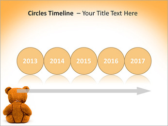 Brown Teddy Bear PowerPoint Template - Slide 9