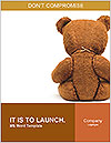 Brown Teddy Bear Word Template - Page 1