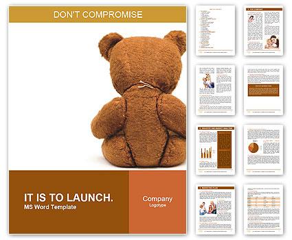 Brown Teddy Bear Word Template