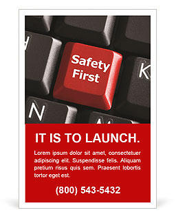 Safety First Button Ad Templates
