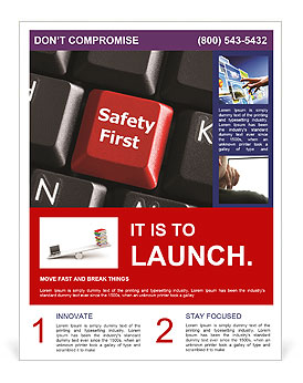Safety First Button Flyer Template