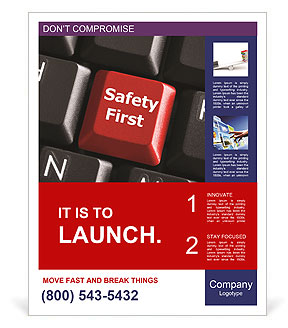 Safety First Button Poster Templates