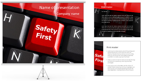Safety First Button PowerPoint Template