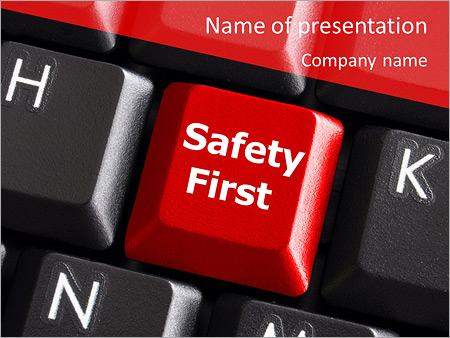 Safety First Button PowerPoint Templates