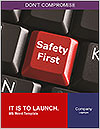 Safety First Button Word Templates - Page 1