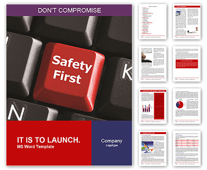 Safety First Button Word Templates
