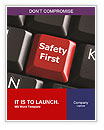 Safety First Button Word Template