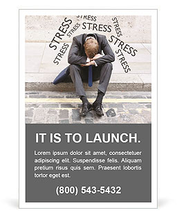 Stress At Work Ad Template