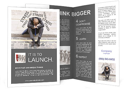 Stress At Work Brochure Template