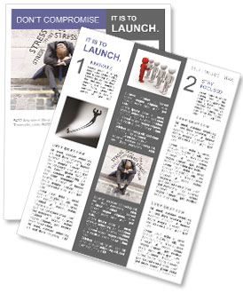 Stress At Work Newsletter Templates