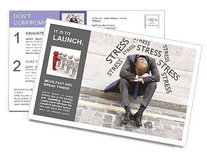 Stress At Work Postcard Templates
