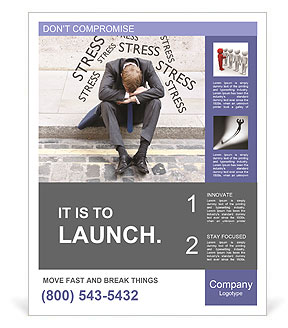 Stress At Work Poster Template