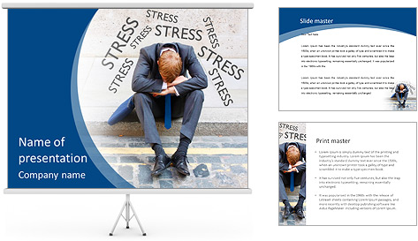 Stress At Work PowerPoint Template