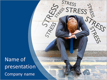 Stress At Work PowerPoint Template - Slide 1