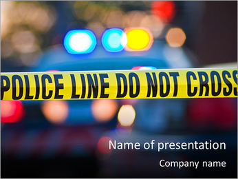 Police Line PowerPoint Template - Slide 1