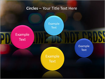 Police Line PowerPoint Template - Slide 57