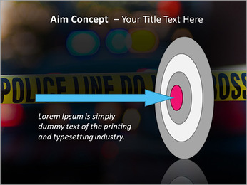 Police Line PowerPoint Template - Slide 63