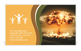 Big Explosion Business Card Template