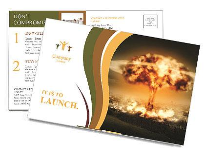 Big Explosion Postcard Template