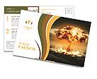 Big Explosion Postcard Template