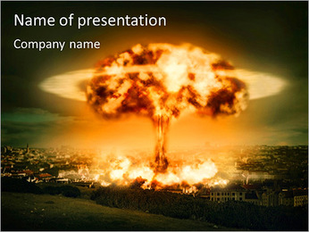 Big Explosion PowerPoint šablony