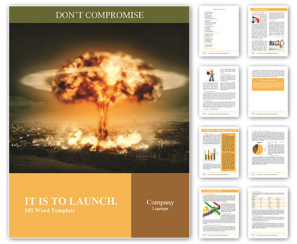 Big Explosion Word Templates