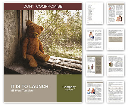 Lonely Teddy Bear Word Template