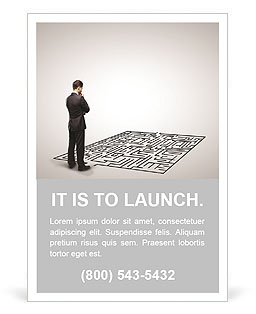 Business Labyrinth Ad Template