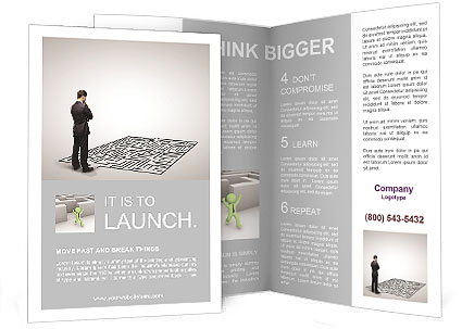 Business Labyrinth Brochure Template & Design ID 0000007613 ...