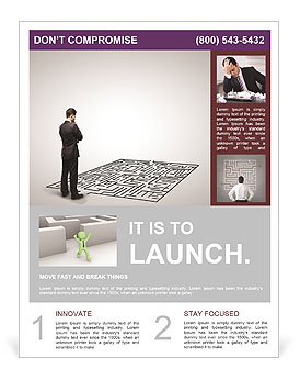 Business Labyrinth Flyer Templates