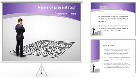 Business Labyrinth PowerPoint Template