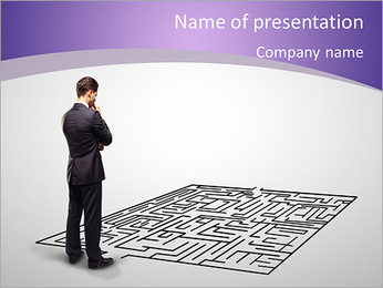 Business Labyrinth PowerPoint Templates - Slide 1