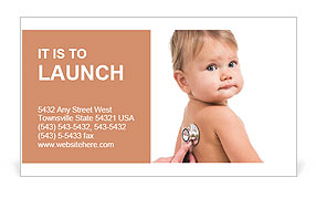 Sick Baby Business Card Templates
