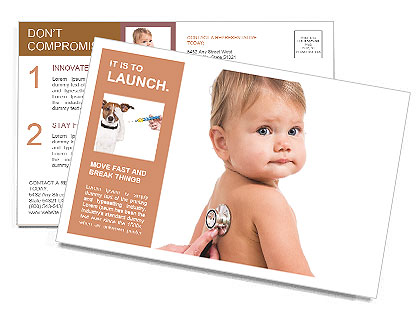 Sick Baby Postcard Template
