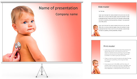 Sick Baby PowerPoint Template