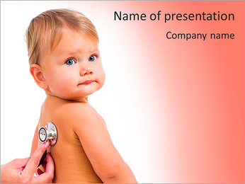 Sick Baby PowerPoint Templates - Slide 1