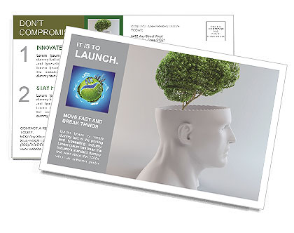 Think Green Postcard Template