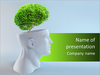 Think Green PowerPoint Template - Slide 1