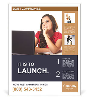 Laptop Poster Template